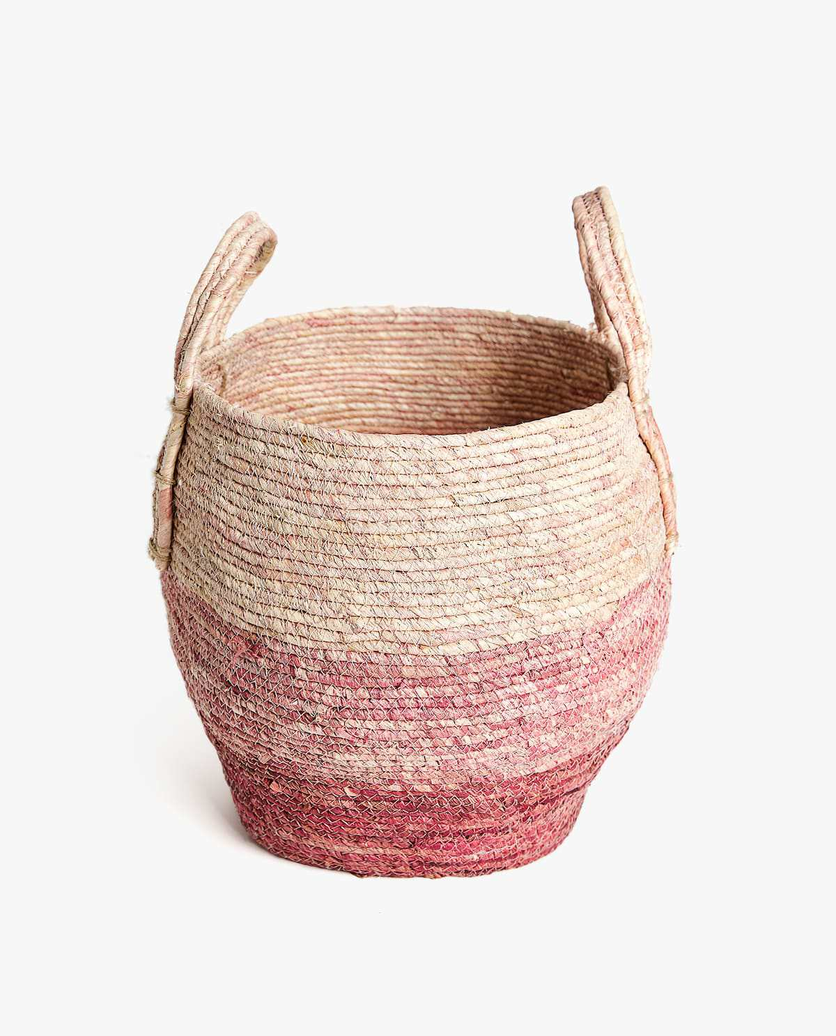 Zara Home Contrast Round Basket With Handles