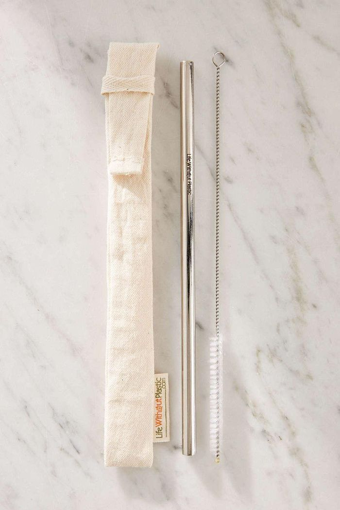 Stainless Steel Straw + Cleaning Brush Kit