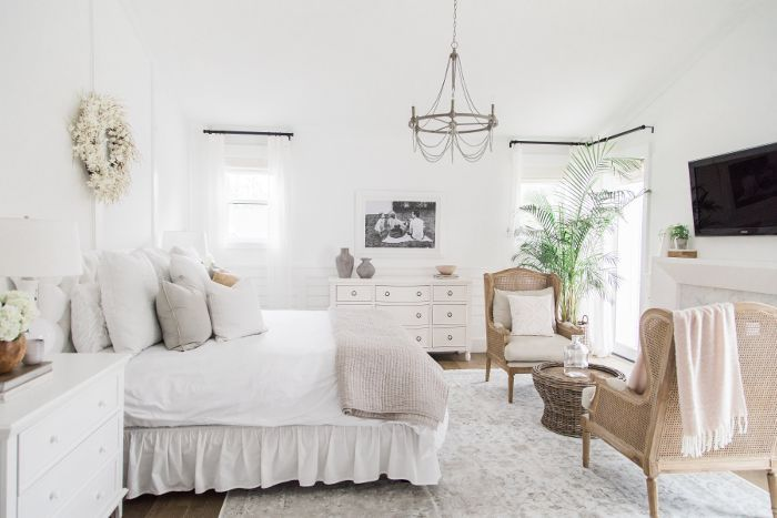 Master bedroom in Ali Fedotowsky home