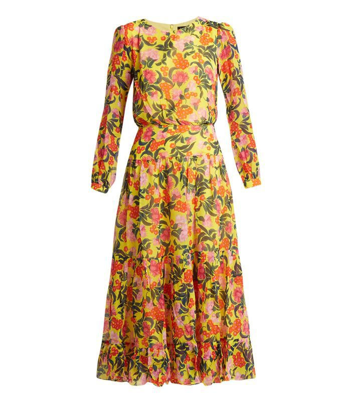 Isabel floral-print silk dress