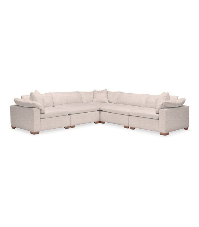 Value City Furniture Plush 5-Piece Sectional (comes in 40 fabric color choices + multiple configuration options)