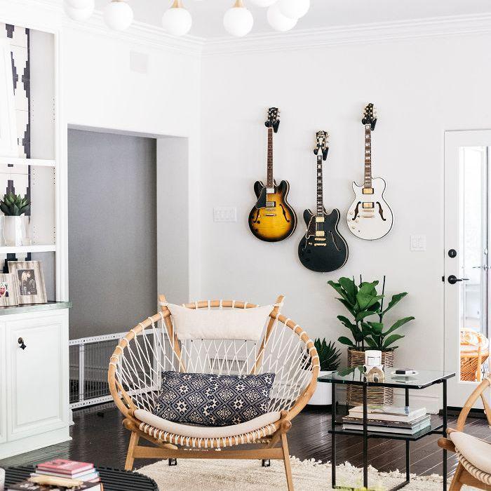 Trish y Billy Ray Cyrus: sala de estar