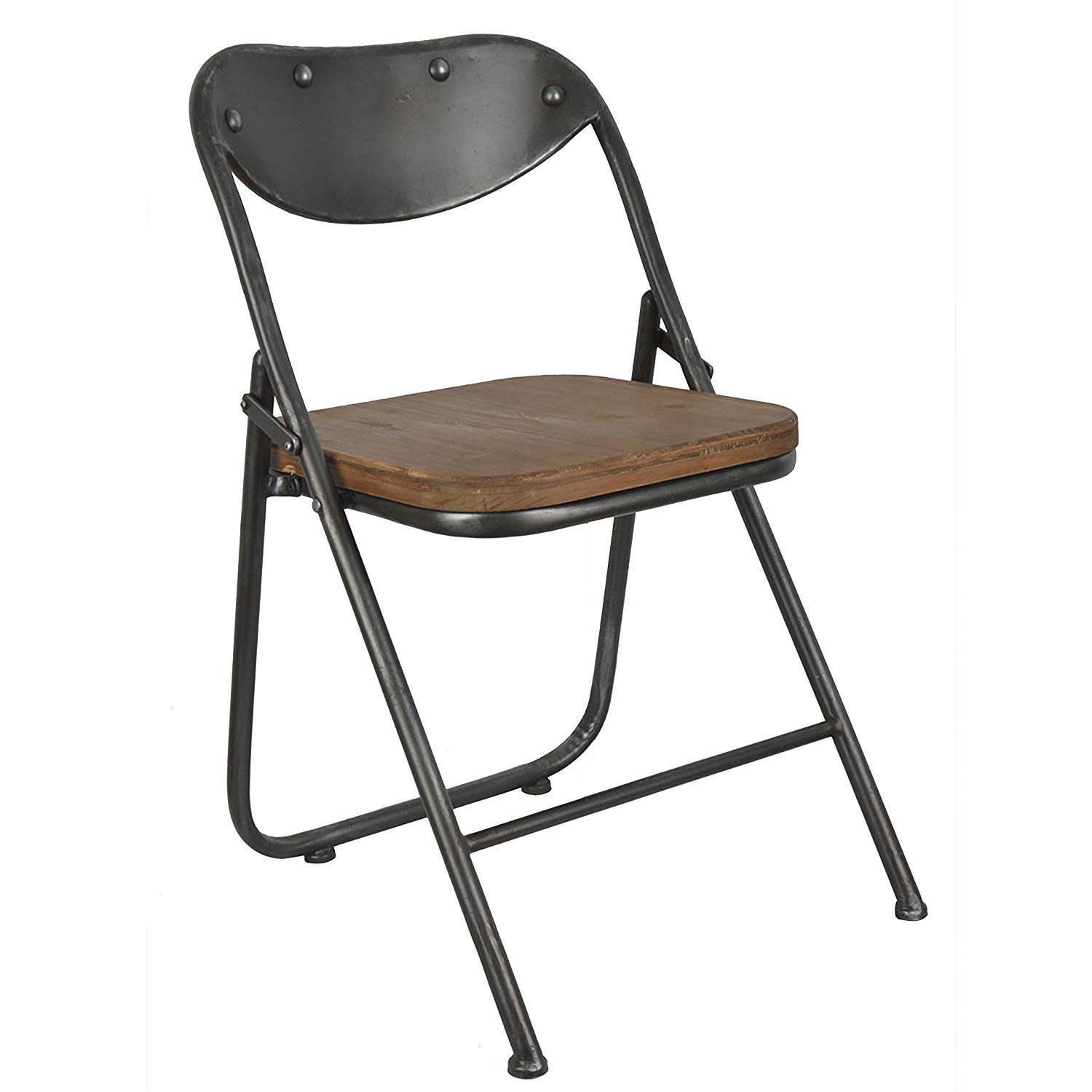 Décor Therapy Vintage Seat Folding Chairs