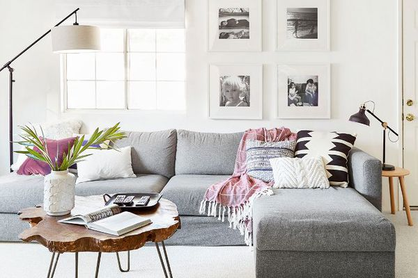 a living room remodeled by Emily Henderson
