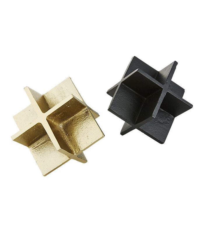Cooper Black-Brass Objects Set of 2