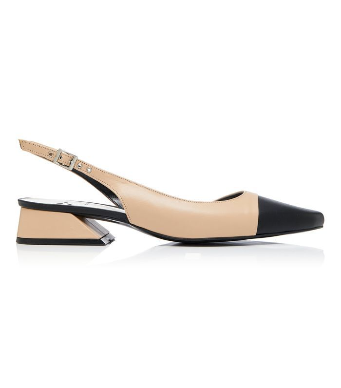 Yuul Yie Two-Tone Leather Slingback Pumps