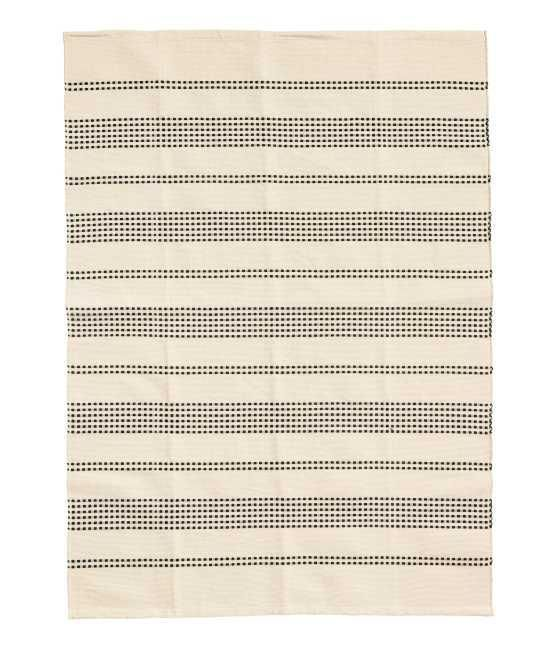 Textured Striped Cotton Rug