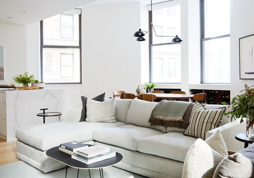 Makeover of the Week - Grisoro Design NYC Apartment Bright Living Room