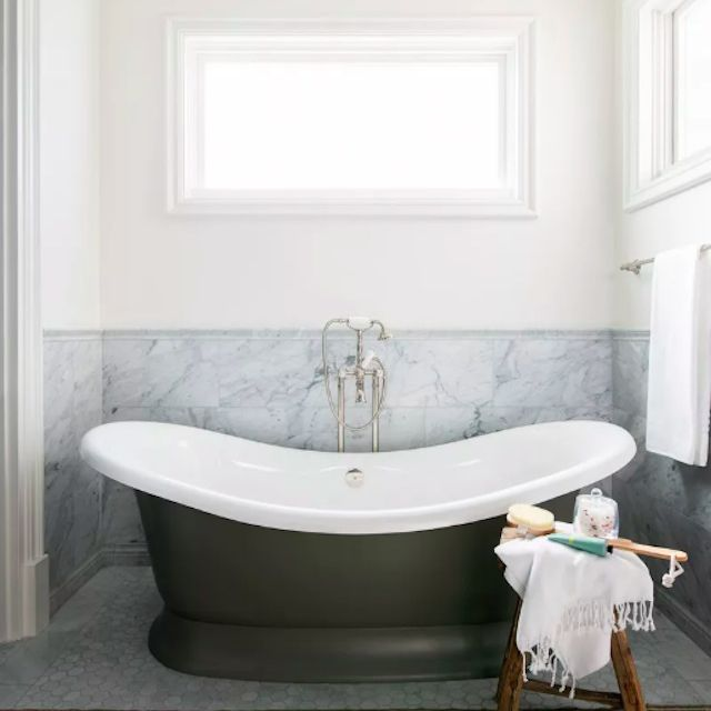 pewter bathtub