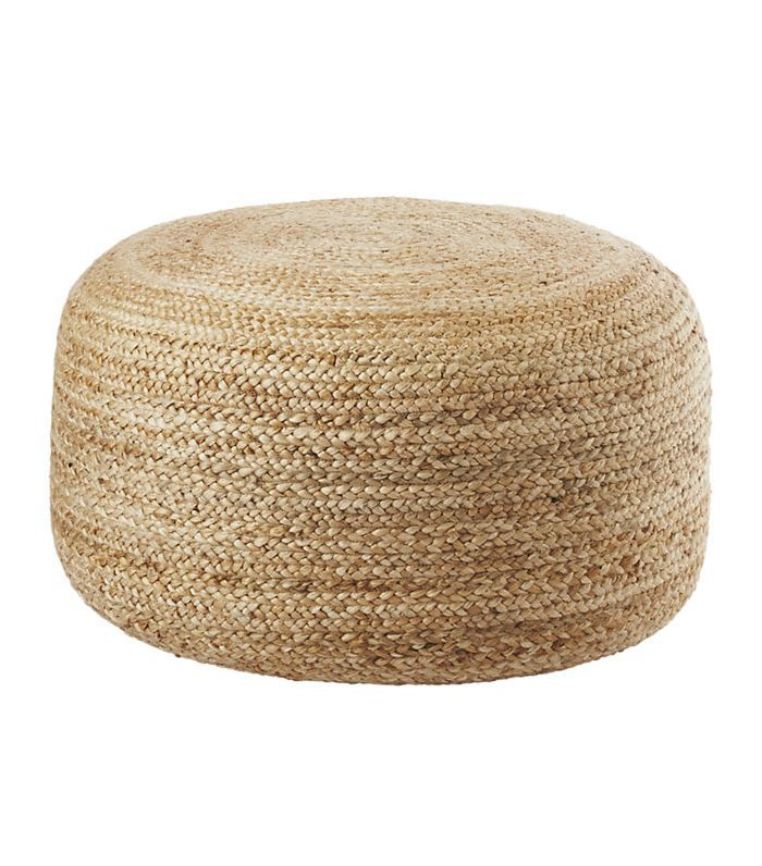 braided jute large pouf