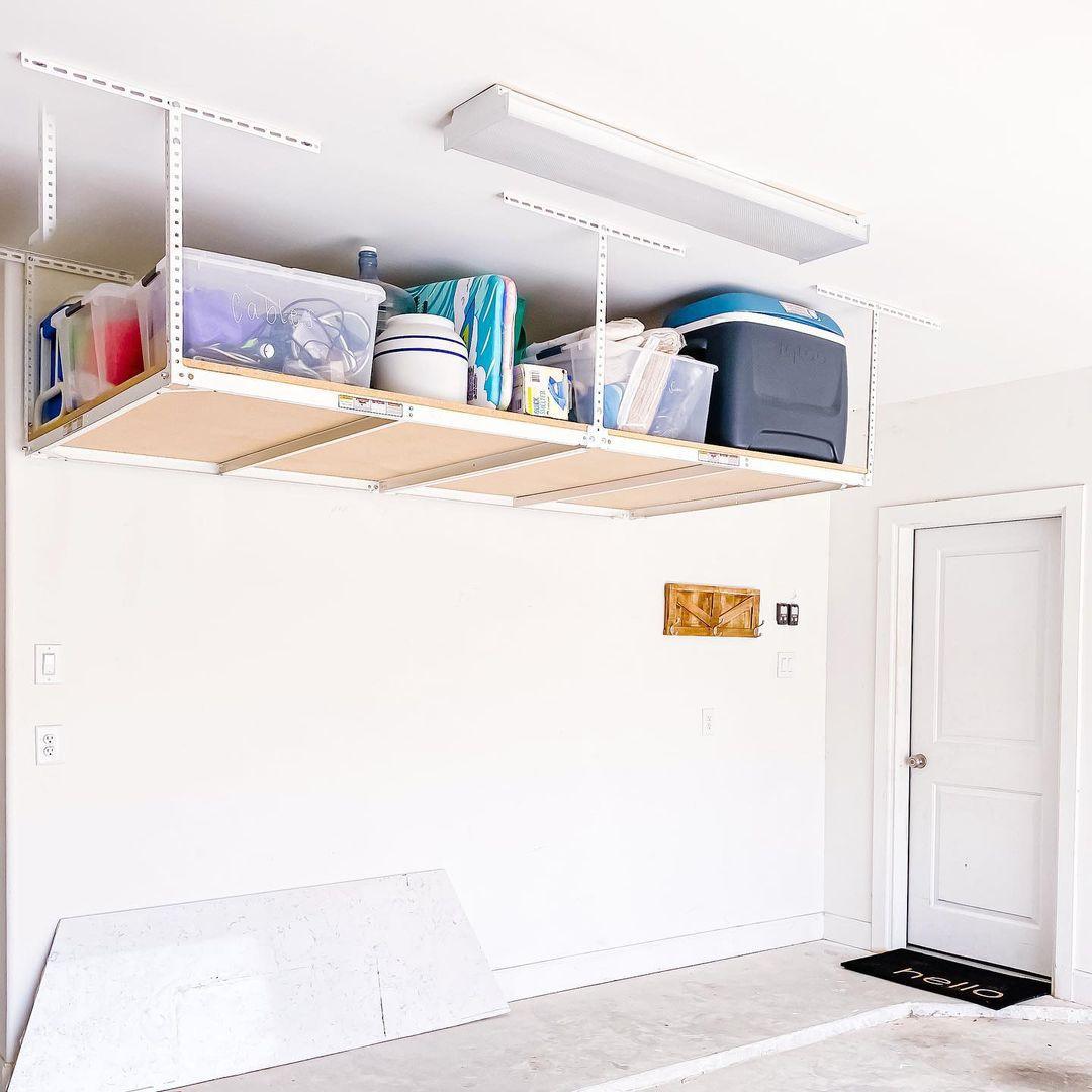Garage with vertical storage