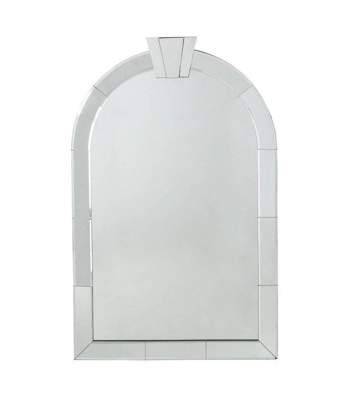 Chairish Pair of Dome Top Art Decor Venetian Mirrors