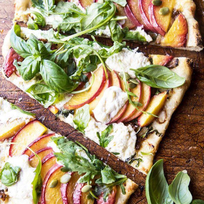 peach pizza