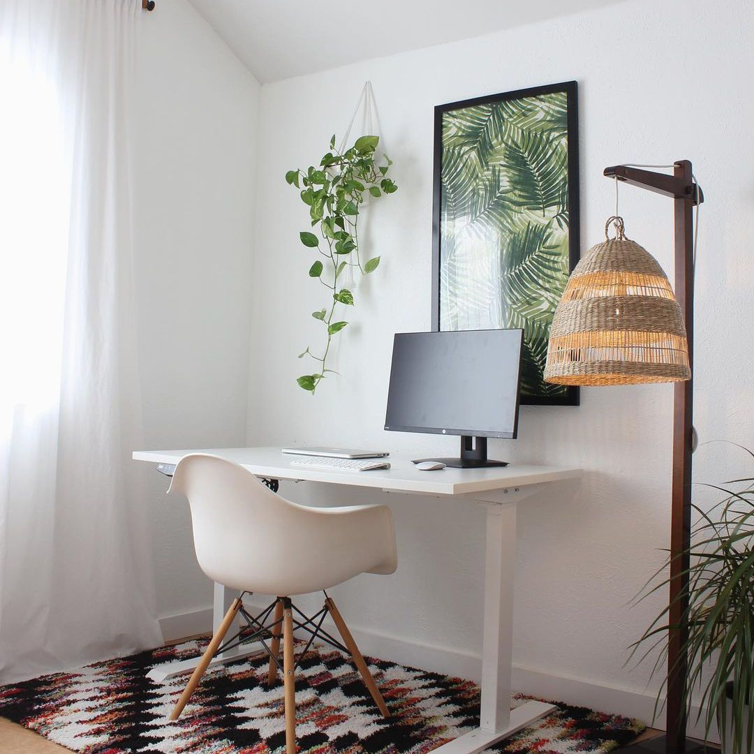 Small office with a standing desk