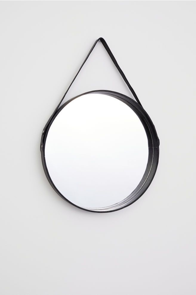 H&M Home Leather-Framed Round Mirror