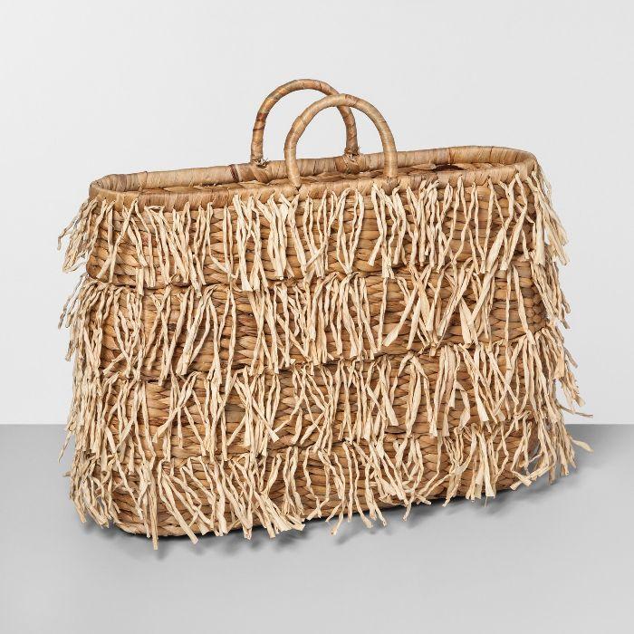 Opalhouse Water Hyacinth Fringe Basket