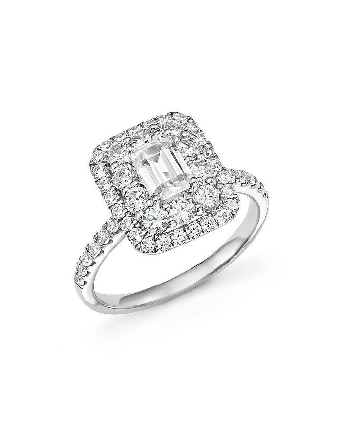 Emerald-Cut Diamond Engagement Ring in 14K White Gold, 2.0 ct. t.w- 100% Exclusive