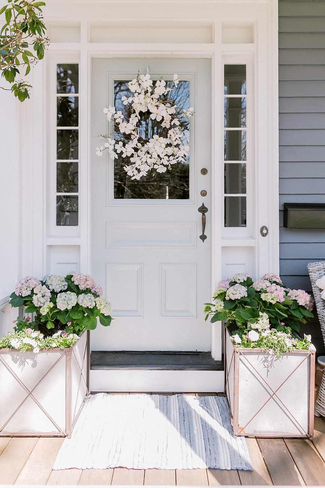 hydrangea flower boxes
