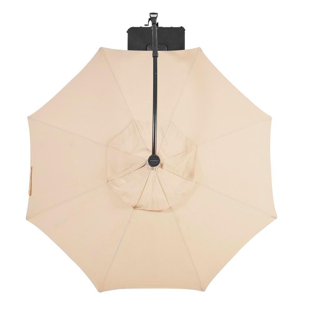 Aluminum Cantilever Solar LED Offset Patio Umbrella—Home Depot Spring Sale