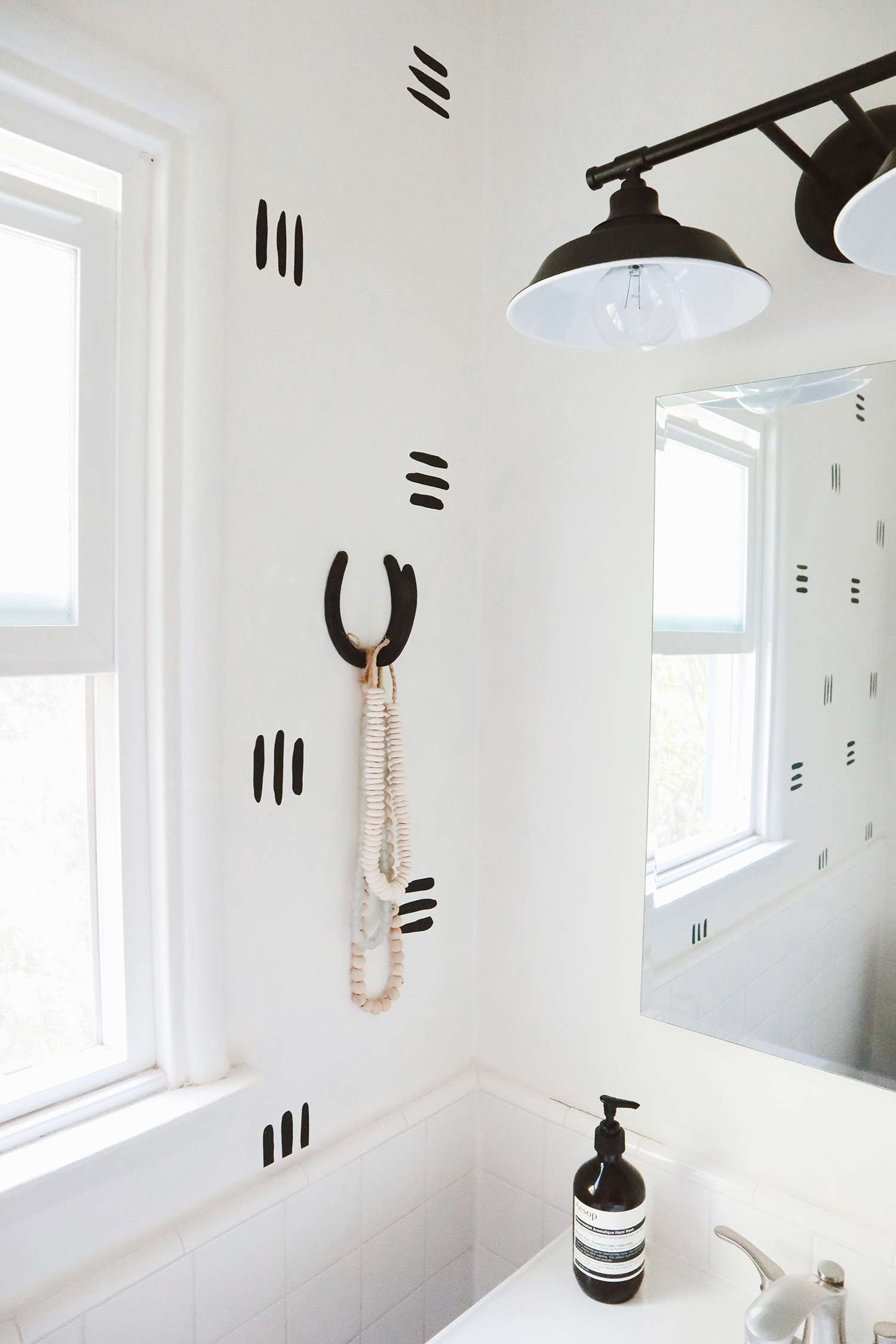 alisha agrellas home tour - white bathroom