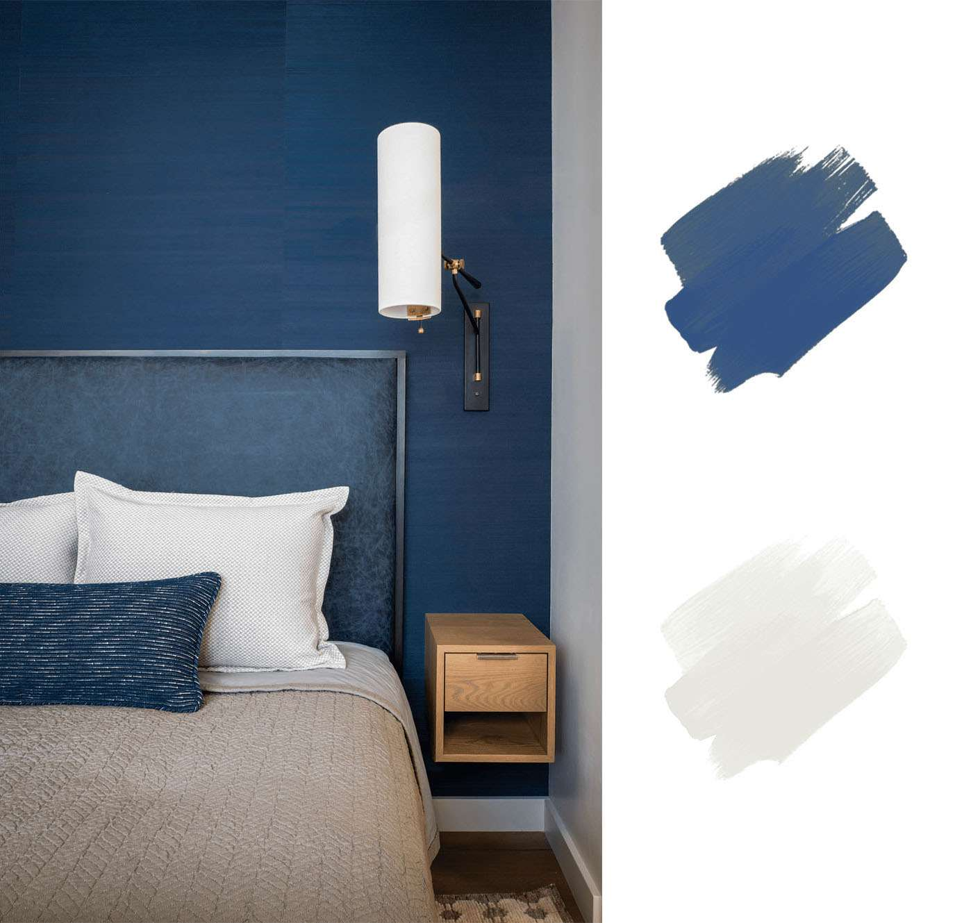 best interior color schemes - blue and white