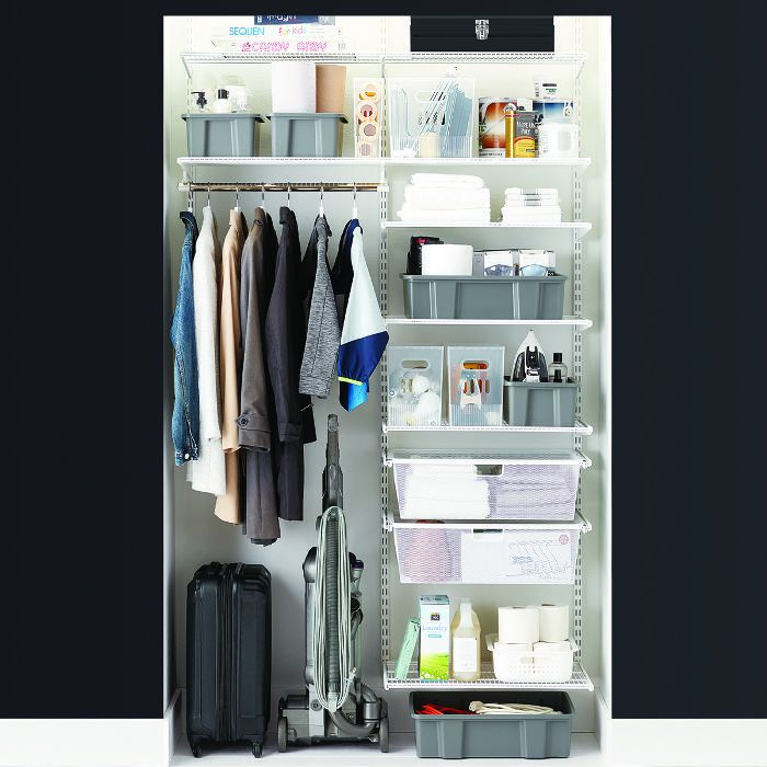 The Container Store Elfa Classic 4' Coat & Storage Closet