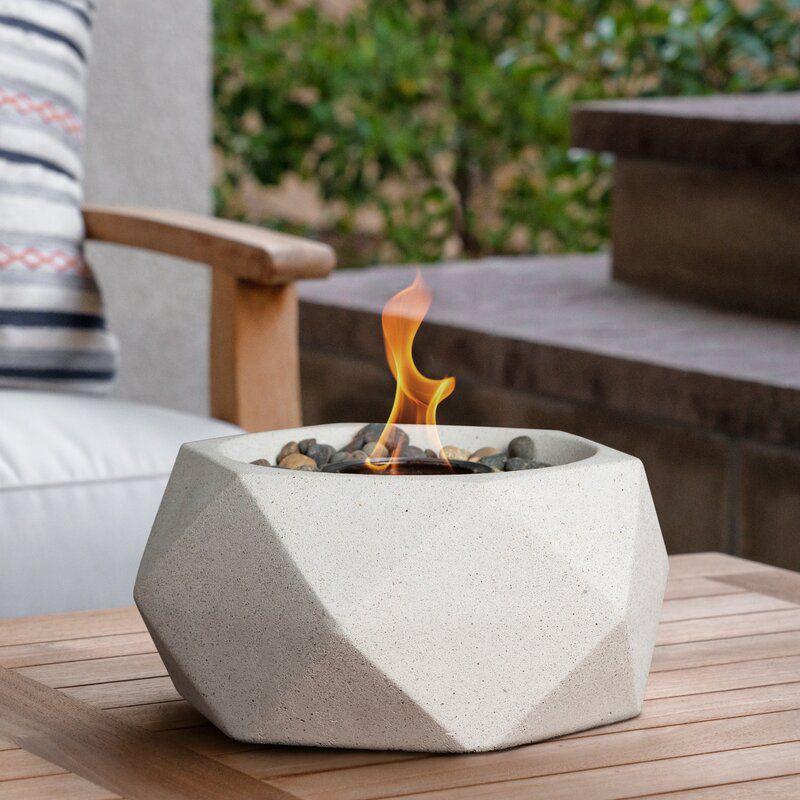 Stone Gel Outdoor Tabletop Fireplace