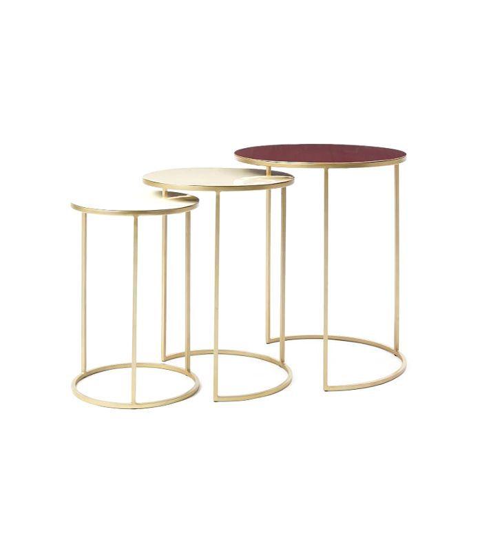 Enamel Round Nesting Table