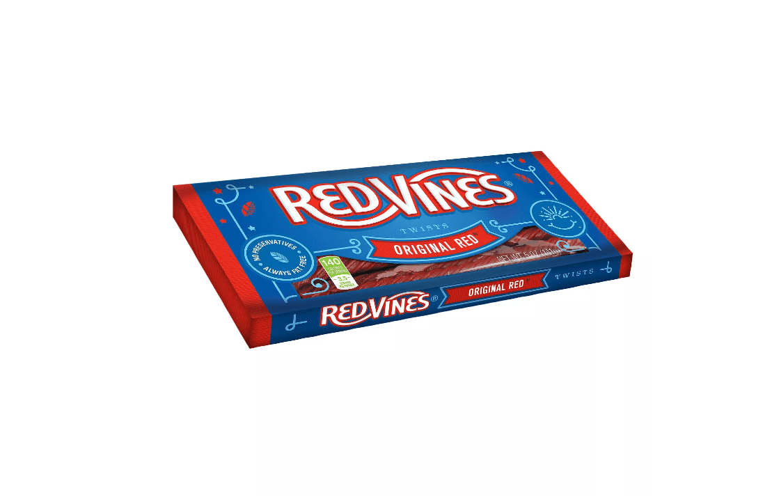 A box of Red Vines candy in Original Red.