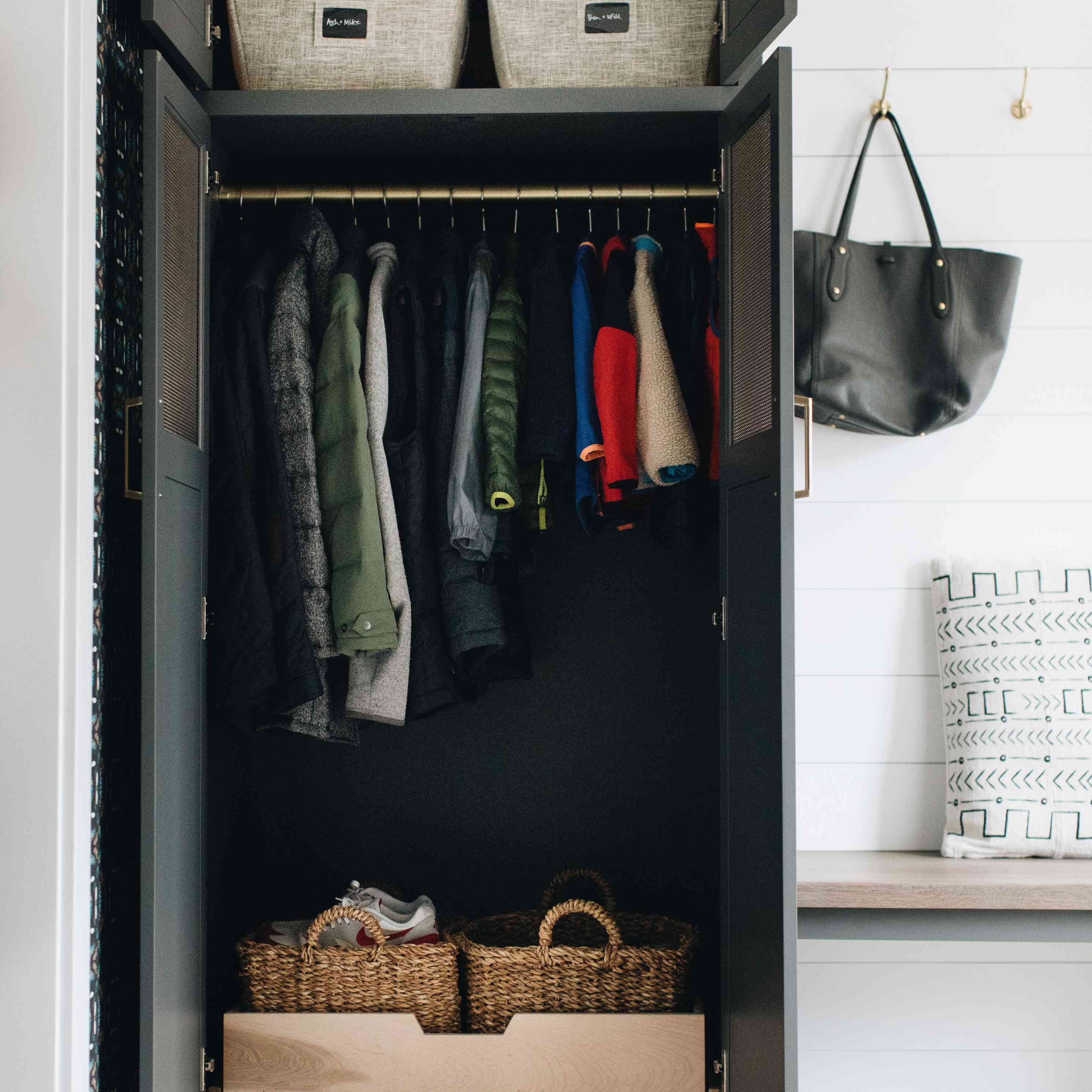 neat method wardrobe hall closet
