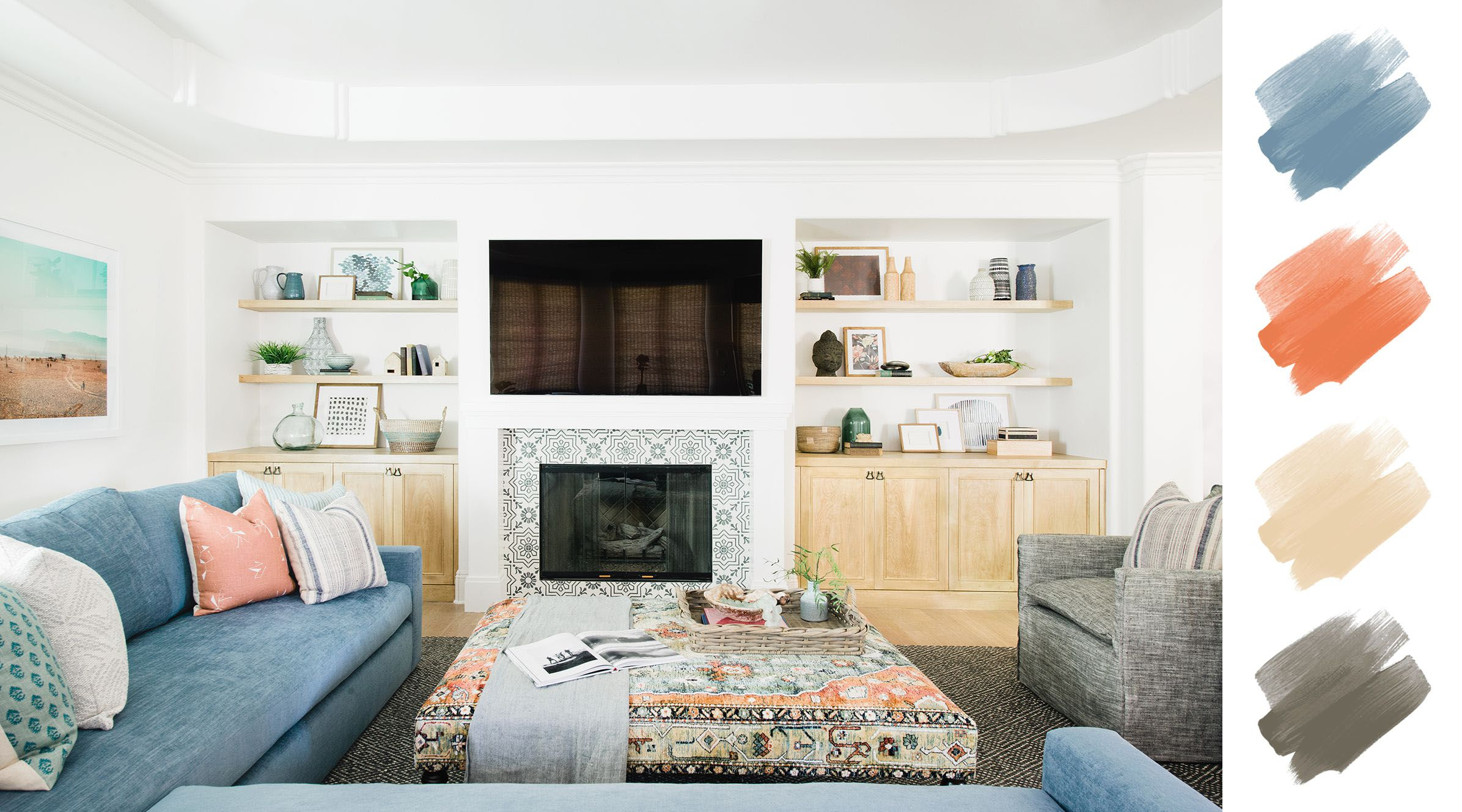 6 Gorgeous Living Room Color Schemes According To Designers