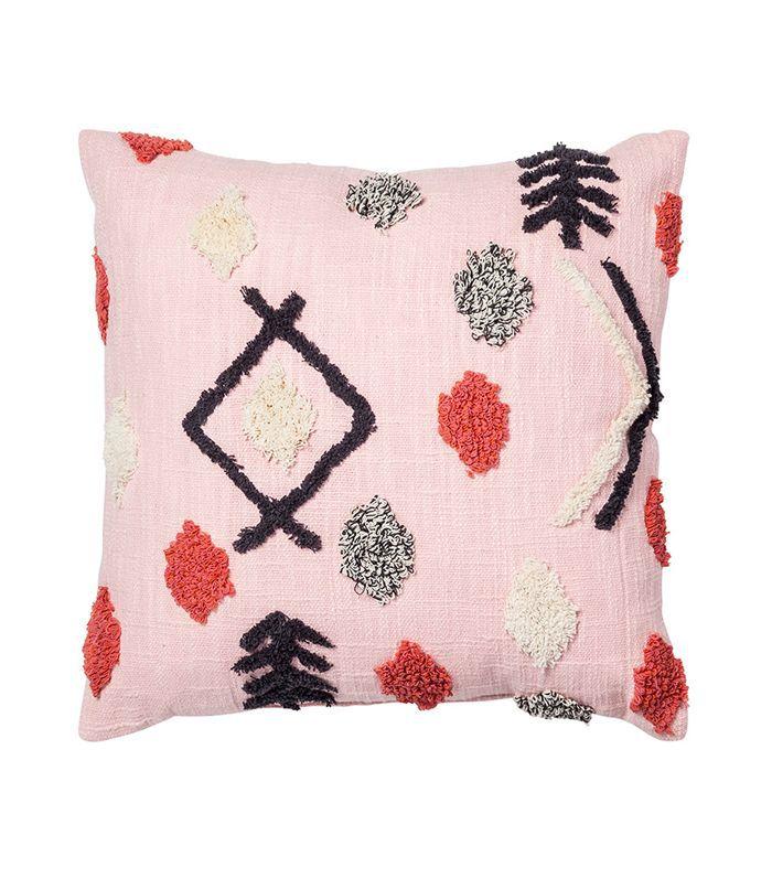 Target Pink Tufted Throw Pillow