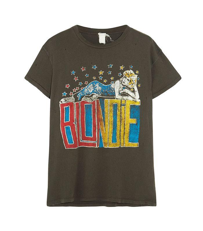 Blondie Distressed Printed Cotton-jersey T-shirt