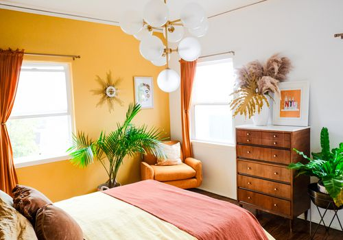bright painted room