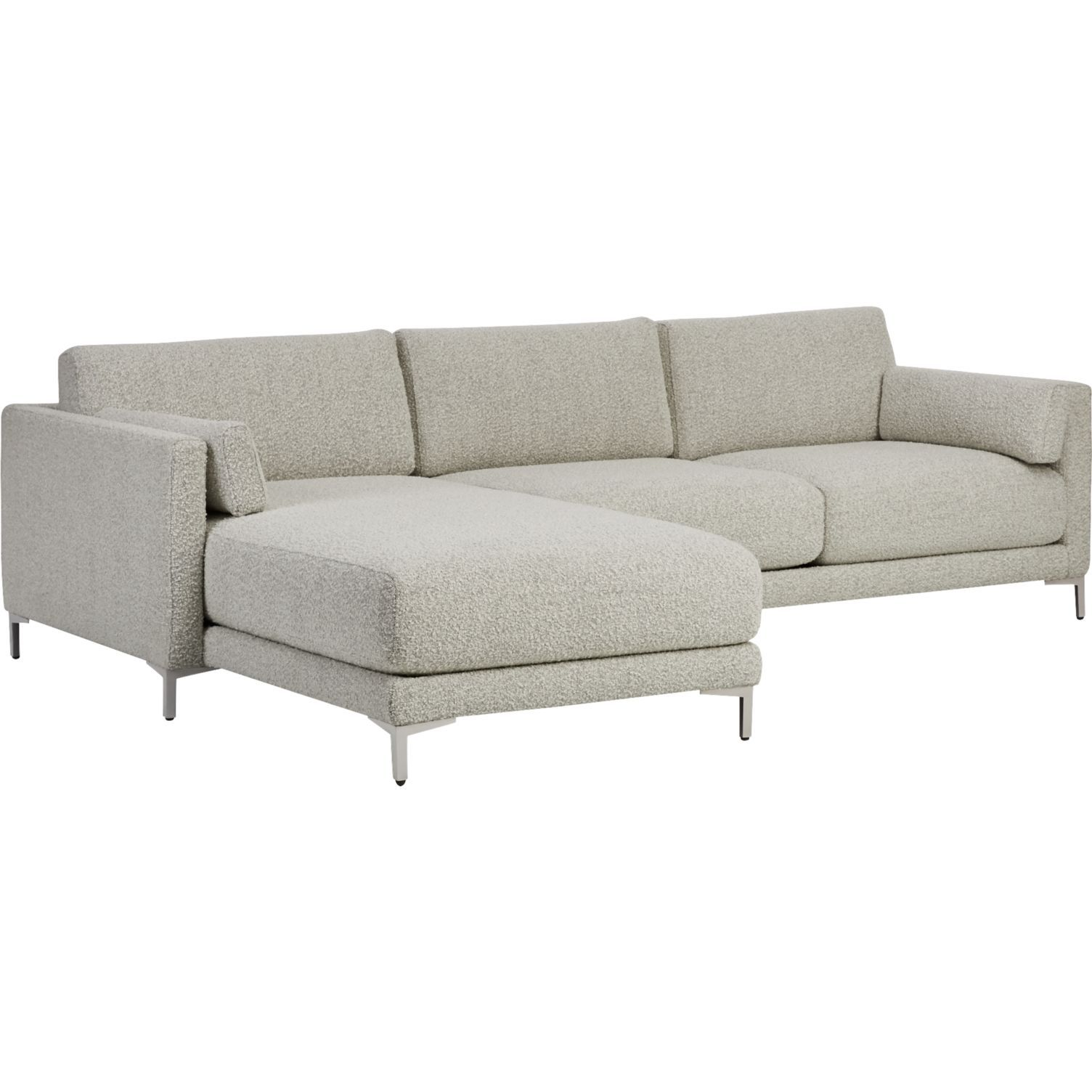 District 2-Piece Grey Sectional Sofa