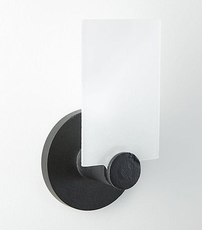 Fan Black Glass Wall Sconce