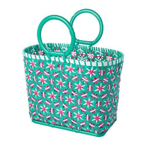 IKEA Picnic Basket in White and Green