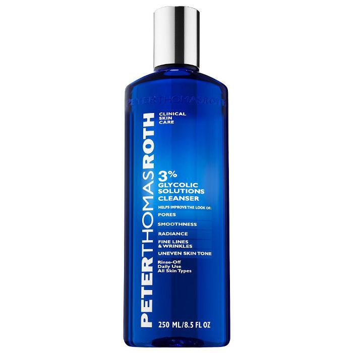 Peter Thomas Roth 3% Glycolic Solutions Cleanser (8.5 oz/ 250 mL) glycolic acid face washes
