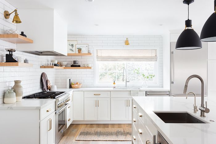 This Stunning All-White Kitchen Renovation Was Worth $100K on ceiling painting, ceiling drywall, ceiling air conditioning, ceiling home,
