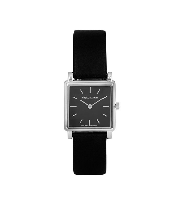 Stainless Steel And Leather Watch