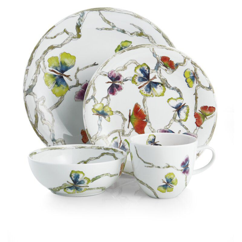 Butterfly Ginkgo 4-Piece Place Setting