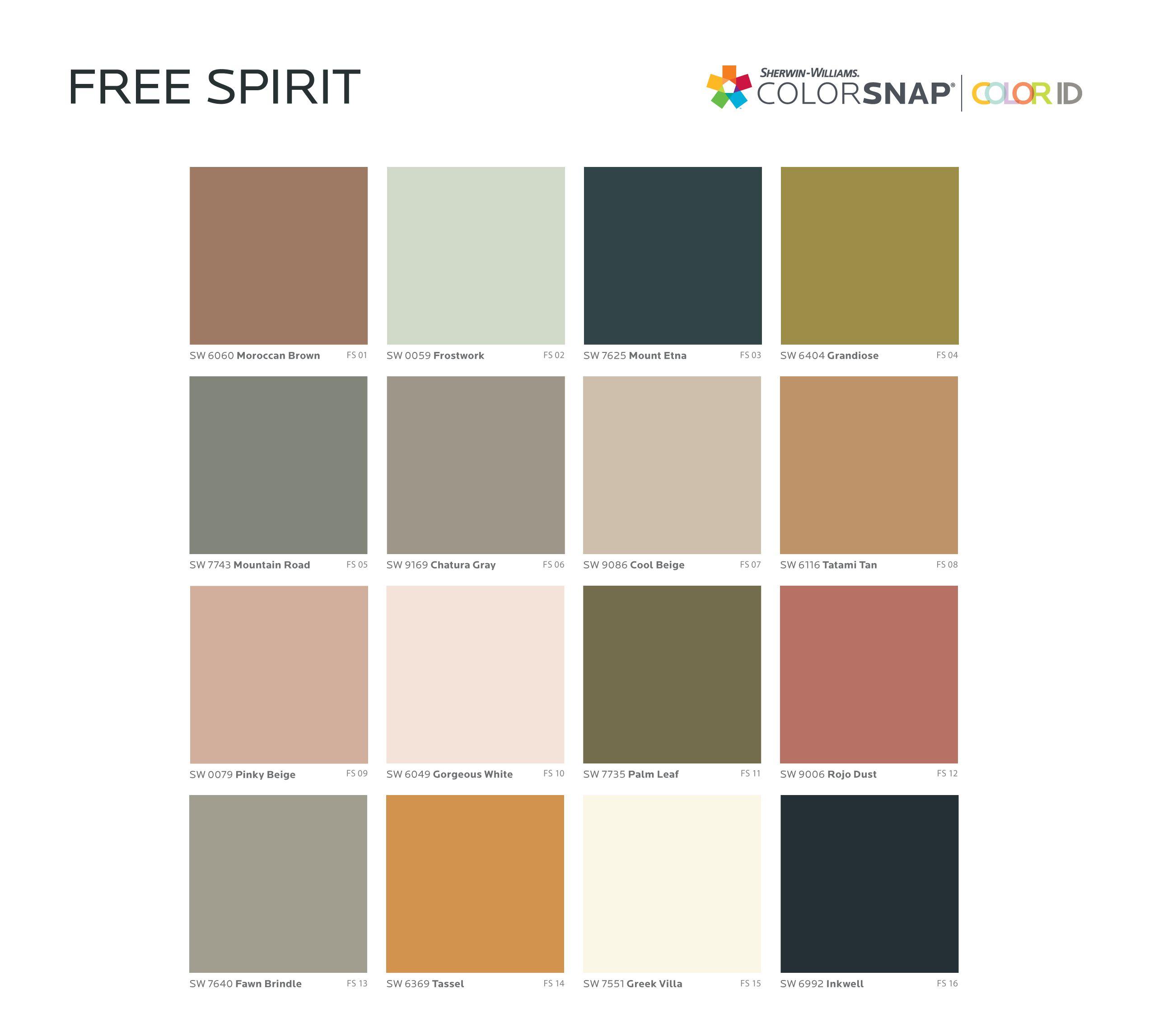 Free Spirit paint color palette