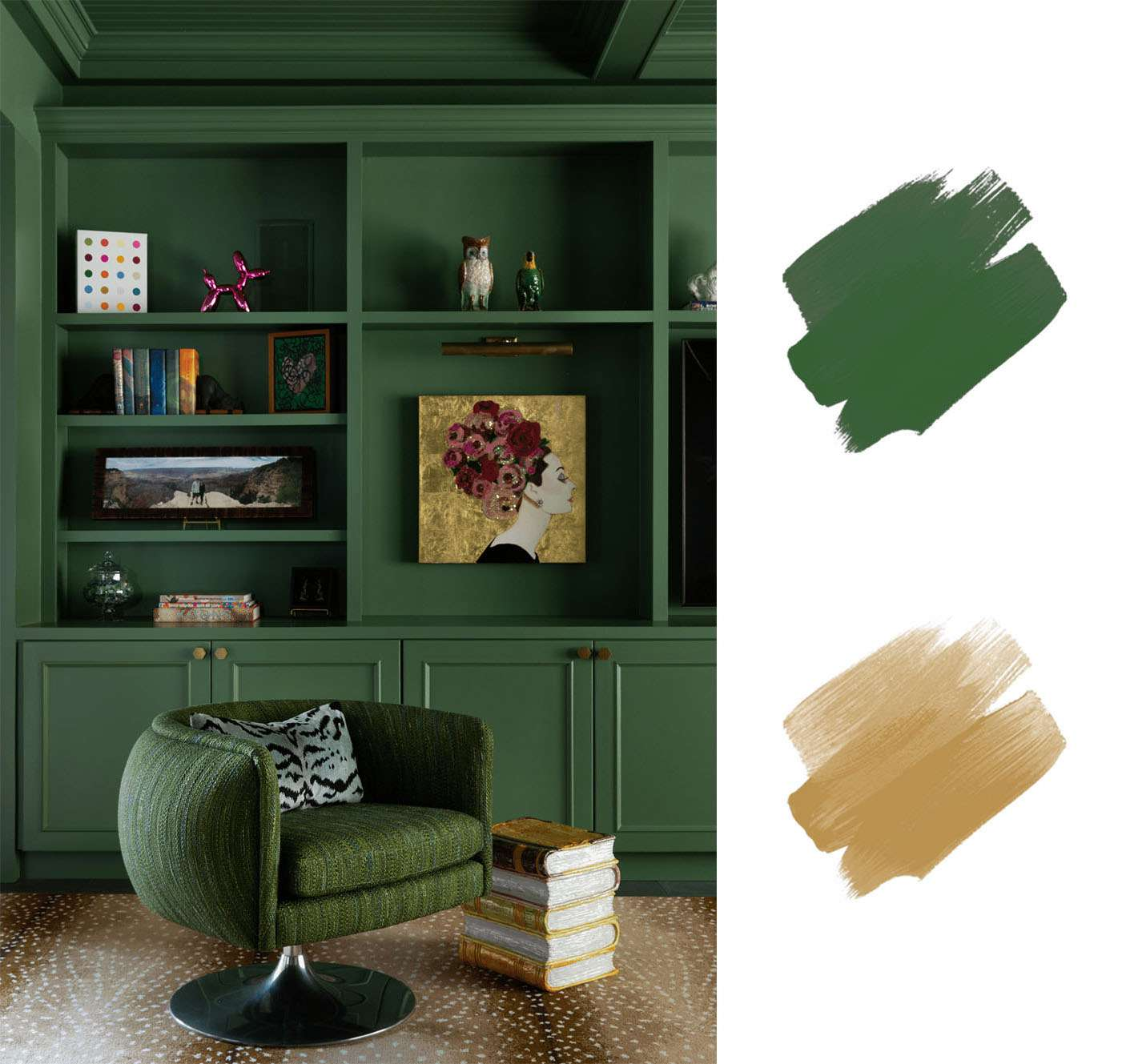 best interior color schemes - green and gold