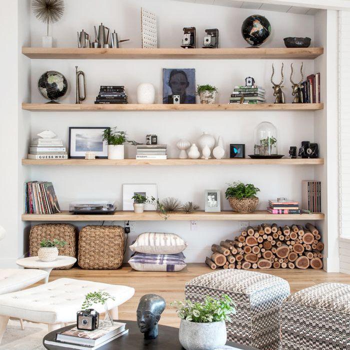 built in bookshelf wall