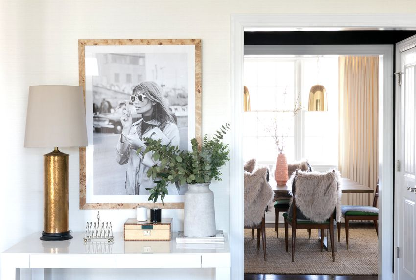 editors favorite products july - console table and dining room