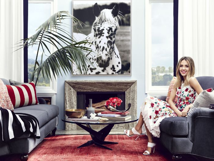 Jessica Alba in her Guest House