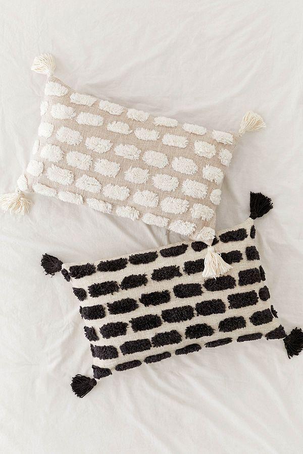 Tilly Tufted Tassel Bolster Pillow