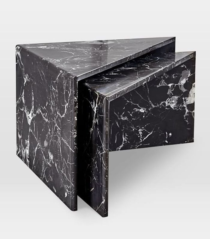 West Elm Nesting Marble Side Tables