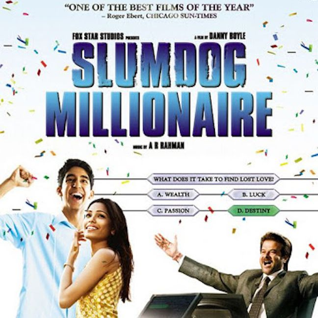 Slumdog Millionaire movie poster.