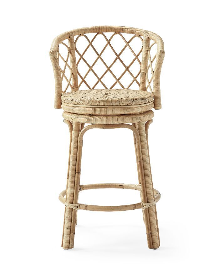 Serena & Lily Avalon Swivel Counter Stool